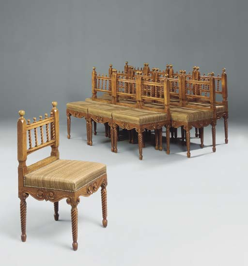 A SET OF TWELVE REGENCY OAK DI