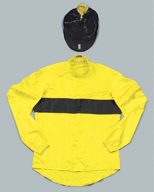 A SET OF RACING SILKS IN THE D