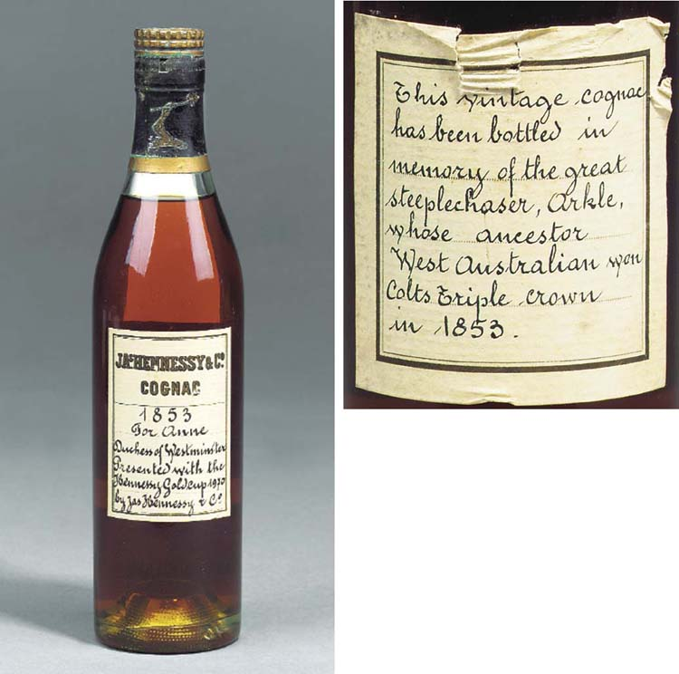 A BOTTLE OF 1853 HENNESSEY COG