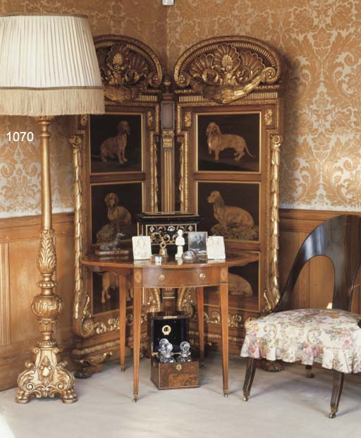 AN ITALIAN CARVED GILTWOOD STA