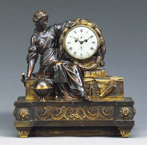A LATE LOUIS XV BRONZE AND ORM