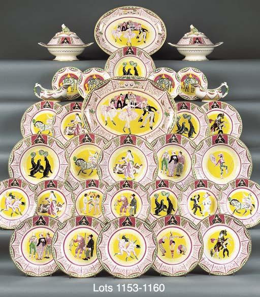 SIX CIRCUS SOUP PLATES