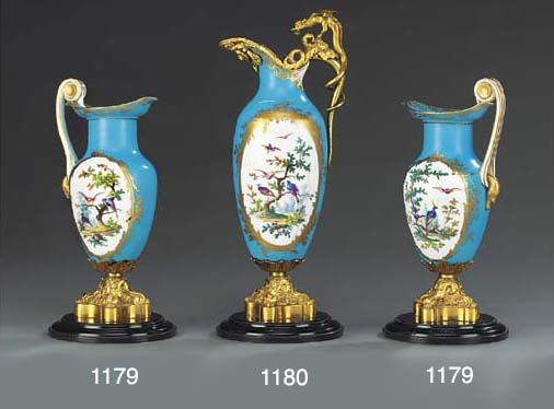 A SEVRES (LATER-DECORATED) GIL