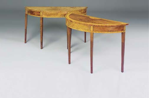 A PAIR OF GEORGE III MAHOGANY,