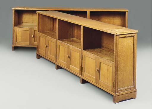 A PAIR OF OAK LOW BOOKCASES