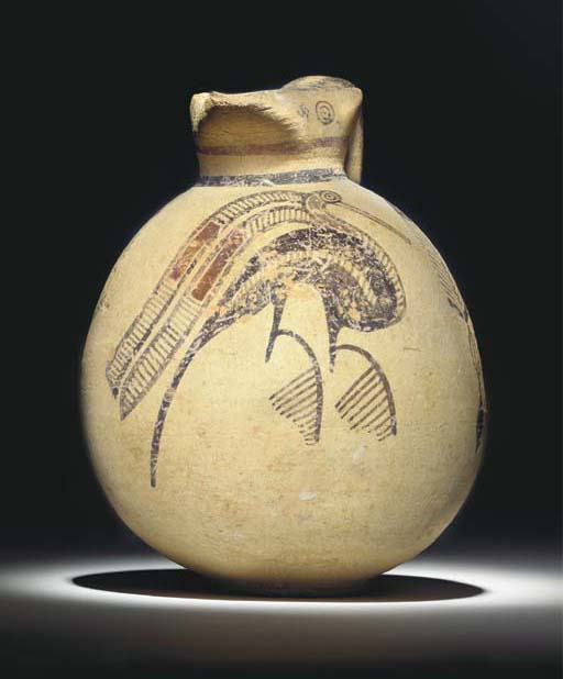 A CYPRIOT BICHROME WARE PAINTE