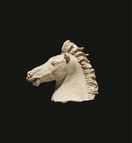 A TARANTINE TERRACOTTA HORSE H