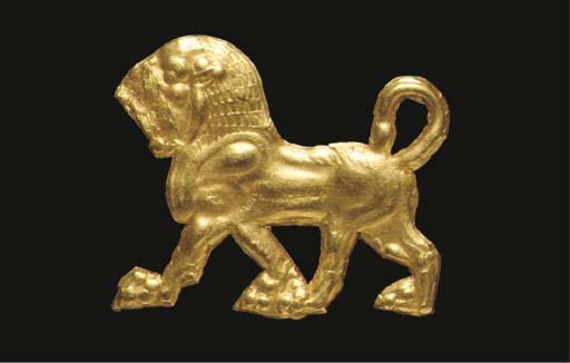 AN ACHAEMENID GOLD ORNAMENT IN
