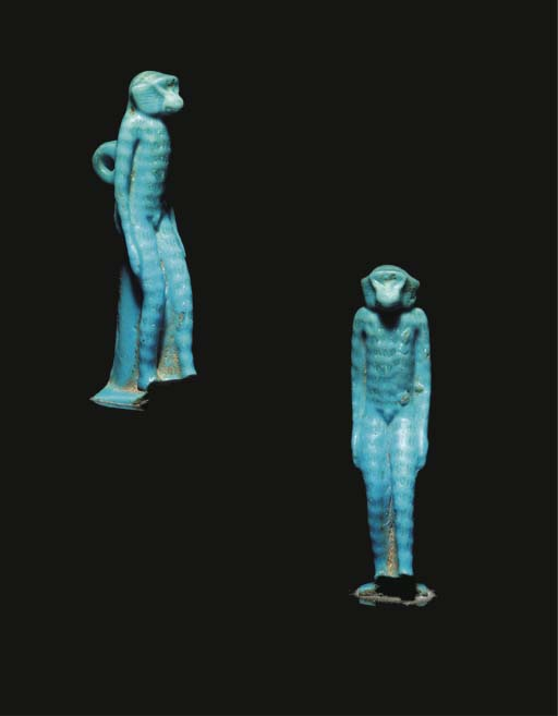 AN EGYPTIAN STRIPED TURQUOISE