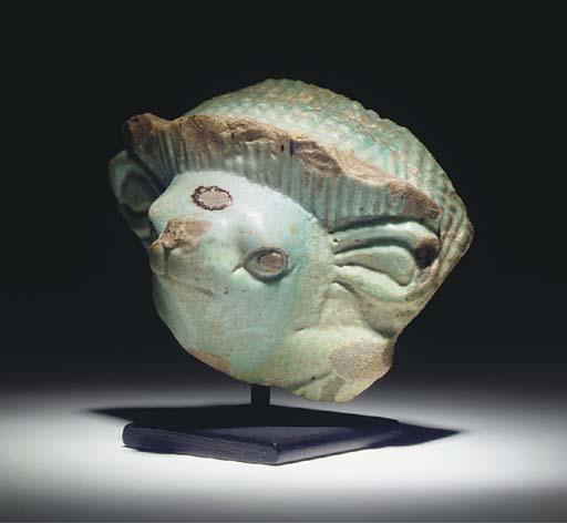 A GRAECO-EGYPTIAN TURQUOISE FA