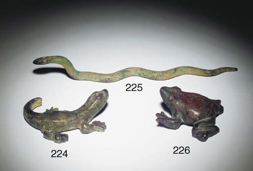 A HELLENISTIC BRONZE FROG