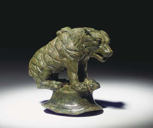 A ROMAN BRONZE FIGURE OF A BEA