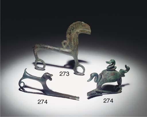 A VILLANOVAN BRONZE HORSE PEND