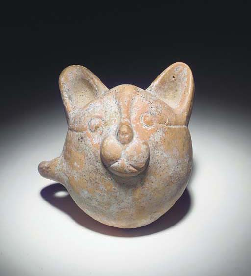 A POTTERY CEREMONIAL CUP WITH