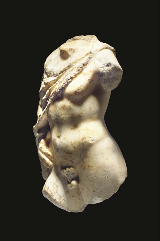 A LATE HELLENISTIC MARBLE TORS