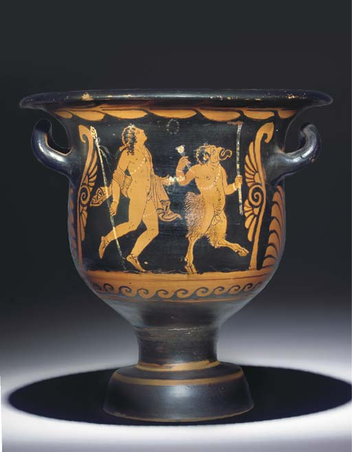 A PAESTAN RED-FIGURE KRATER, A