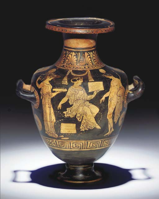 AN APULIAN RED-FIGURE HYDRIA,