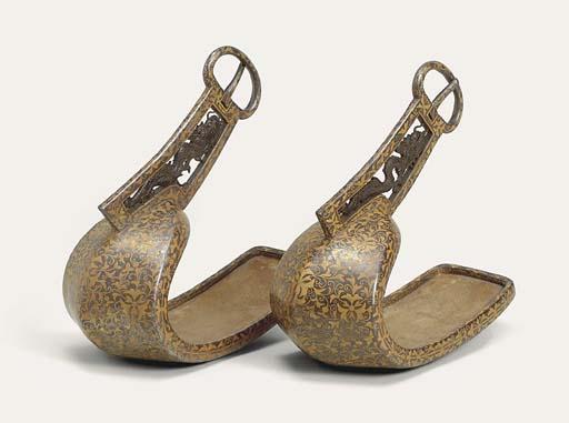 A fine pair of Abumi [stirrups