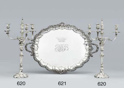A pair of Victorian silver fou