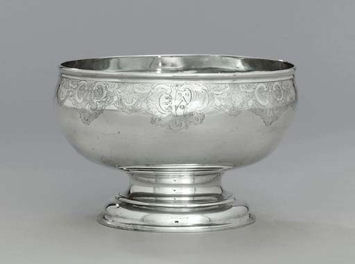 A George II silver punch-bowl