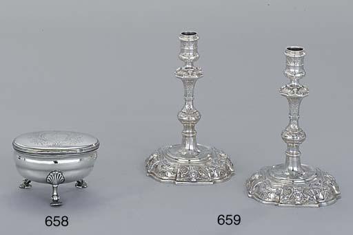 A George III silver sugar-box