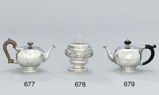 A George II silver tea-caddy