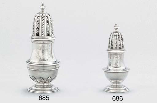 A George II silver sugar-caste