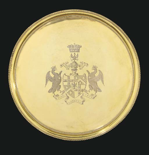 A George III silver-gilt salve