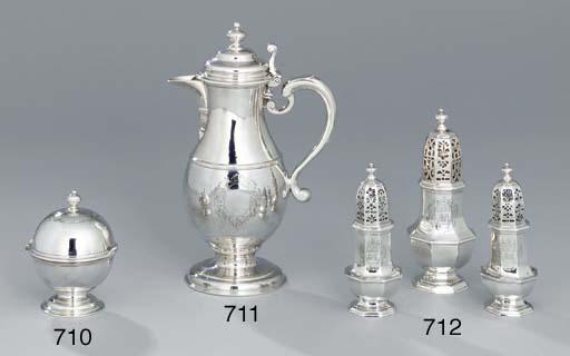 A George I silver beer-jug