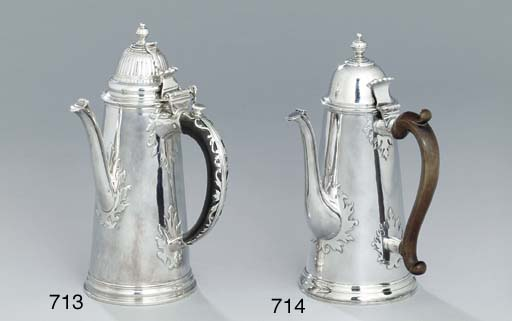 A Queen Anne silver coffee-pot