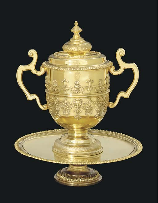 A George I silver-gilt cup, co