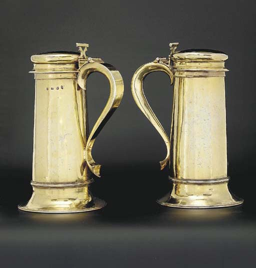 A pair of Charles I silver-gil