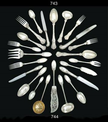 A French silver table-service