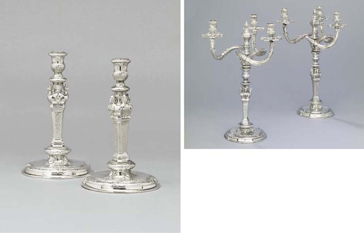 A pair of French Regence silve
