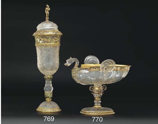 An Austrian enamelled gold-mou