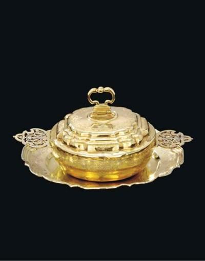A German silver-gilt ecuelle,