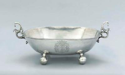 A German silver dish