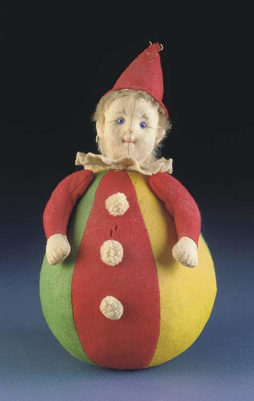 A rare Steiff Roly Poly Clown