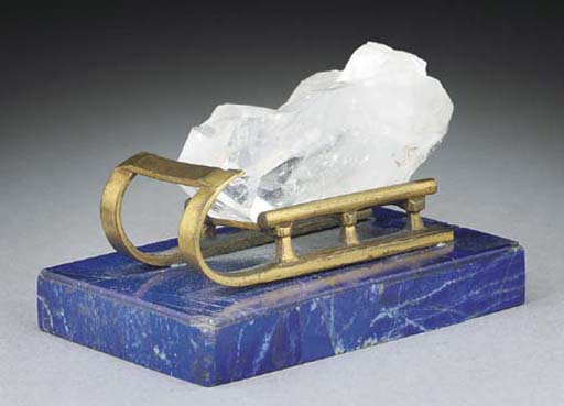 A RUSSIAN GILT-METAL AND ROCK