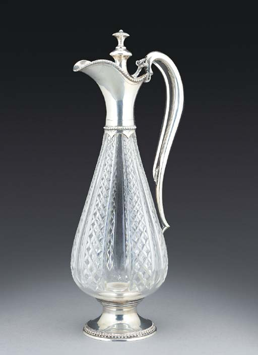 A SWISS SILVER-MOUNTED GLASS C