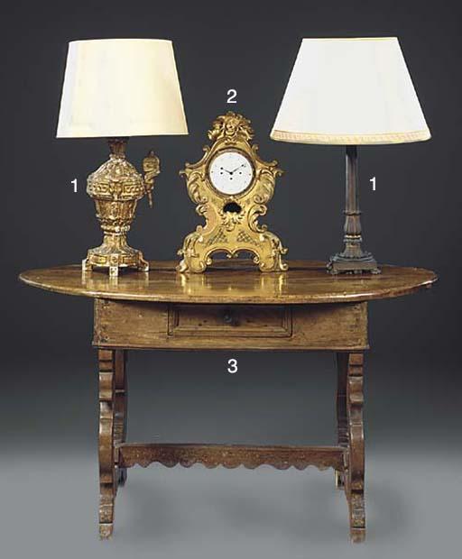 A REGENCY BRONZE COLUMNAR TABL