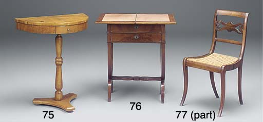 A LOUIS PHILIPPE WALNUT AND MA
