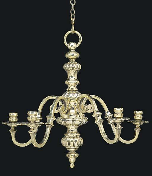 A Late Victorian brass five li
