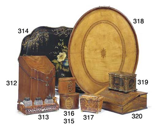 A George III satinwood oval te
