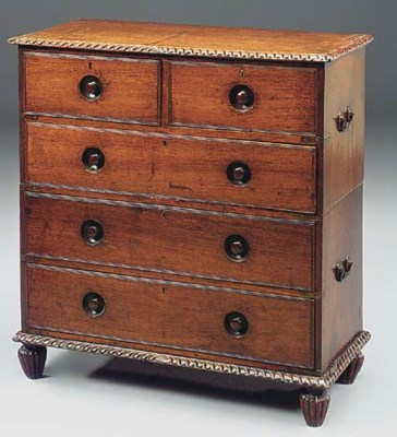 AN ANGLO-INDIAN TEAK, ROSEWOOD