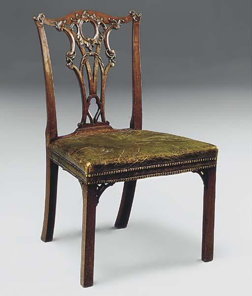 A George III mahogany side cha
