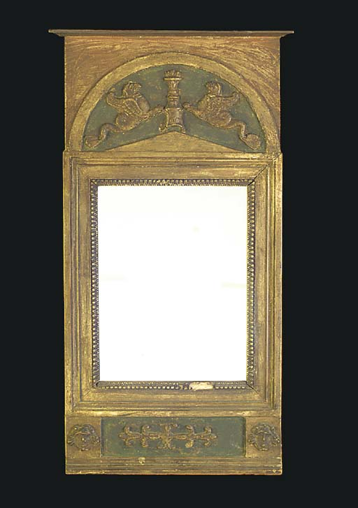 A painted pier mirror