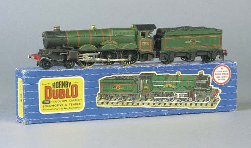 A Hornby Dublo three-rail 3221 Ludlow Castle Locomotive and Tender