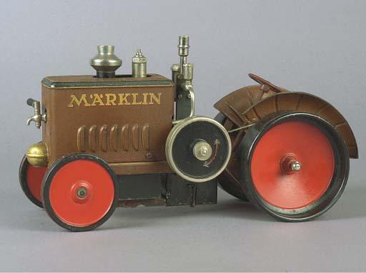 A Märklin steam Field Tractor