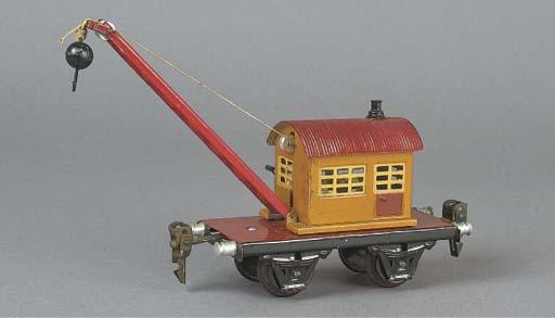 A  Märklin two-axle 1668 13cm. Crane Wagon